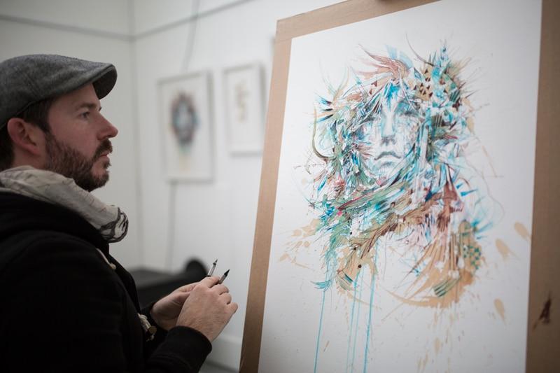 Carne Griffiths one of the delphian gallery open call 2018 judges. artist curator painter illustrator portrait