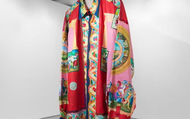 Oversized jacket by Canadian artist Andy Dixon at Joshua Liner Gallery in New York, 2019