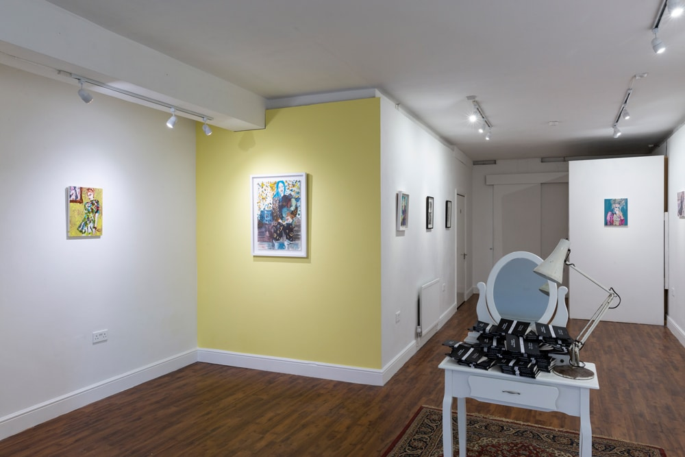 Installation image from Rhiannon Salisbury exhibition Habitual Submission with Delphian Gallery in London 2019
