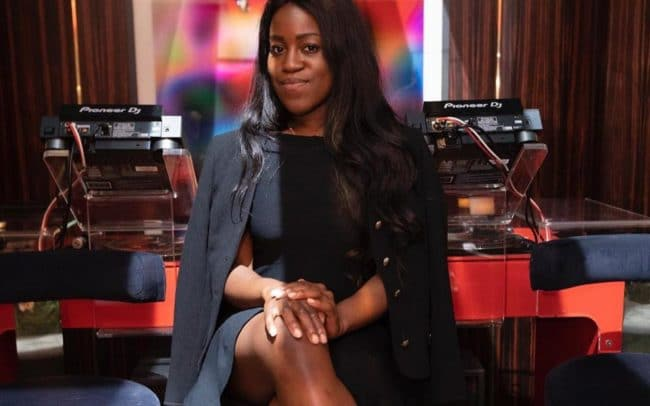Portrait of art critic, curator and presenter Aindrea Emelife